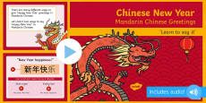 Chinese New Year Mandarin Chinese Greetings PowerPoint