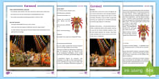 * NEW * KS2 Carnival Differentiated Fact File English/German