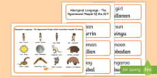 Ngunnawal Aboriginal Language Word Mat and Word Card Resource Pack