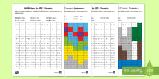 * NEW * Addition and Subtraction Mosaic Activity Sheets