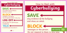 How to Deal With Cyberbullying Poster