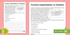 * NEW * Ficha de actividad: Escritura argumentativa - La Tomatina