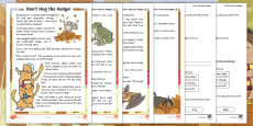 Don't Hog the Hedge! Differentiated Reading Comprehension Activity