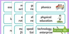 Editable Class Visual Timetable