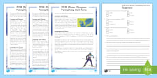 * NEW * 2018 Winter Olympics: PyeongChang, South Korea Differentiated Reading Comprehension Activity