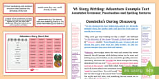 * NEW * Y6 Story Writing: Adventure Model/Example Text