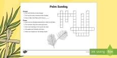 * NEW * KS2 Palm Sunday Crossword
