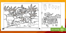 * NEW * Chinese New Year Colouring Pages