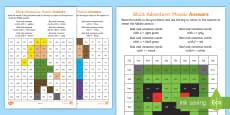 * NEW * Phase 2 Block Adventurer Mosaic Activity Sheets