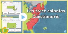 * NEW * Presentación: Cuestionario de las trece colonias