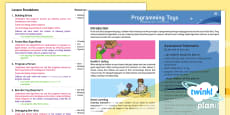 Computing: Programming Toys Year 1 Planning Overview