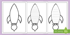* NEW * Space Rocket Writing Frame
