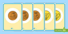 * NEW * Senior Infants Euro Coins Display Posters