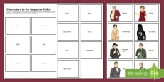 * NEW * Describing Characters in An Inspector Calls Matching Cards