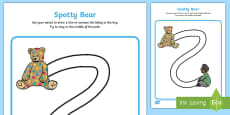 * NEW * Spotty Bear Themed Pencil Control Activity Sheet -
