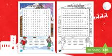 * NEW * KS2 Christmas Elf Word Search Activity Sheet