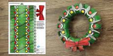 3D Christmas Wreath Display Printable