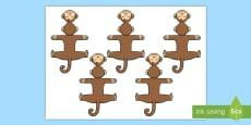 * NEW * Monkey Finger Hugger Cut-Outs