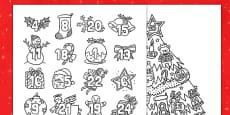 Christmas Mindfulness Colouring Advent Calendar