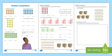 * NEW * Related Calculations Activity Sheets