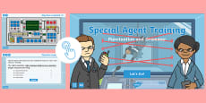 * NEW * Year 6 Special Agent Training Exercises: Punctuation and Grammar Game