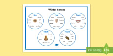 Winter Senses Word Mat
