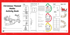Christmas Themed Maths Activity Book