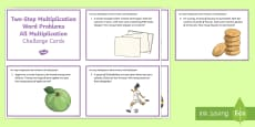 KS2 Two-Step Multiplication Word Problems All Multiplication Maths Challenge Cards