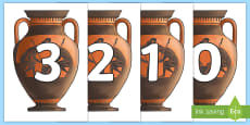 * NEW * 0-50 on Greek Vase Cut-Outs