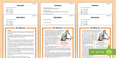 KS2 Ed Sheeran Differentiated Reading Comprehension Activity