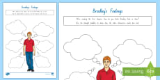* NEW * Term 1 Week 1 Year 5 and 6 Chapter Chat Bradley's Feelings Activity Sheet to Support Teaching On There's a Boy in the Girls' Bathroom by Louis Sachar