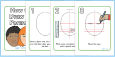 How To Draw A Face Art Instructions