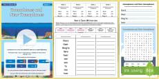 * NEW * Year 2 Term 3B Week 1 Spelling Pack