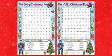 Word Search to Support Teaching on The Jolly Christmas Postman