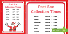 * NEW * Editable Post Box Collection Times Display Sign