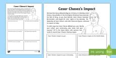 * NEW * Cesar Chavez's Impact Today Activity Sheet