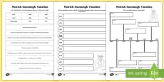 * NEW * Patrick Kavanagh Differentiated Timeline Activity Sheets