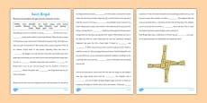 Saint Brigid Cloze with Word Bank Activity Sheet