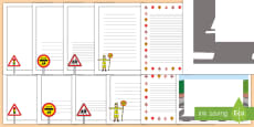UK Road Safety Page Border Pack