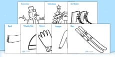 Winter Topic Colouring Sheets