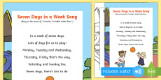 * NEW * Seven Days in a Week Song