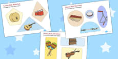 Musical Instrument Cutting Skills Activity Sheets