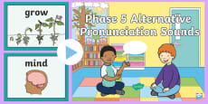 * NEW * Phase 5 Alternative Pronunciation Sounds PowerPoint