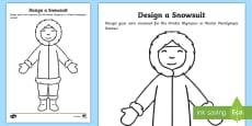 * NEW * KS1 Winter Olympics Design a Snowsuit Activity