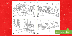 * NEW * Christmas Colouring Place Mats