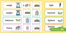 * NEW * Weight Key Word Cards