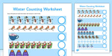 My Counting Activity Sheet (Winter)