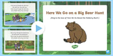Here We Go on a Big Bear Hunt Song PowerPoint