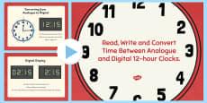 FREE! - Digital Clocks - O Clock (24 Hour) - Time resource, digital