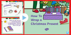 How to Wrap a Christmas Present PowerPoint